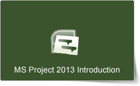 Microsoft Project 2013 Introduction Training Course