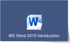 Microsoft Word 2010 Introduction Training Course